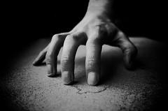 Spider Hand (SubSeaSniper) Tags: white black monochrome spider hand processing gr vignette ricoh incamera