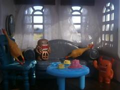HAPPY WUBBA WEDNESDAY!! (AllthingsTiffany) Tags: party chicken toy doll mini domo blythe wubba