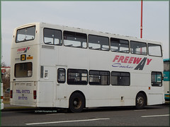 Freeway Coaches (N952 KBJ) 2 (Colin H,) Tags: bus buses volvo football view rear freeway shuttle service chambers derby coaches oly olympian 2014 ibp ncme ipswichbuspage n952kbj colinhumphrey