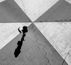 Street attempt 3, Sergels Torg (Bhalalhaika) Tags: street woman sun reflection bird girl lady mono pho