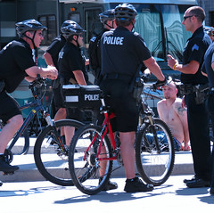 Arrested Development (Colorado Sands (away)) Tags: crime arrest unlawful suspect guys men male police policemen securityforce lawenforcement polizei policeman policia denver colorado 420 potfest civiccenter milehigh rally 420rally us america usa weed grass marijuana legalpot sandraleidholdt unitedstates april 20 2014 pot legal cannabisculturemusicfestival counterculture marihuana maconha stoners polisi bikes bicycles cuffed handcuffed photojournalism denverpolice denverpolicedepartment gangbangers citation busted policeofficers bike sitting