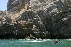 Kayaking Along the Cabo Rocks (Don Thoreby) Tags: mexico cabo cliffs pacificocean kayaking along cabosanlucas pinnacles mexicanriviera loversbeach caboarch caborocks