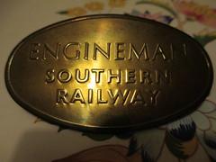 My Other Cap Badge - Unpolished (Sir Hectimere) Tags: southernrailway capbadges railwaybadges railwayartifacts britishrailwayssouthernregion