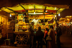 OJ at night. (MrJSparks) Tags: street city travel urban tourism night prime fuji market northafrica juice streetphotography morocco marrakech medina vendor marrakesh orangejuice streetvendor jamaaelfna fixedlens jemaaelfnaa x100t