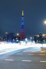 P5030372 (Zengame) Tags: longexposure tower japan architecture night pen tokyo illumination landmark olympus illuminated jp  tokyotower  zuiko   penf     mzuiko 12mmf20 mzuikodigitaled12mmf20 livecomposite
