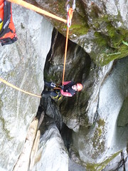 P1120424 (Mountain Sports Alpinschule) Tags: blue mountain sports lagoon canyoning zillertal zemmschlucht alpinschule