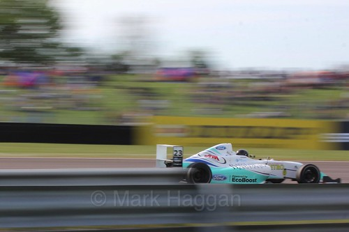 Billy Monger in British Formula Four during the BTCC Weekend at Thruxton, May 2016