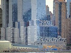 Destruct City (chantsign) Tags: blue windows distortion buildings skyscrapers paintshoppro impression displacement