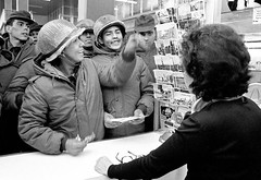 Argentine soldiers buy postcards at a souvenir shop in Stanley, on the Falkland Islands, shortly after their invasion, on April 13, 1982. [1200 x 826] #HistoryPorn #history #retro http://ift.tt/1TJYwWg (Histolines) Tags: history argentine shop islands 1982 x retro souvenir stanley postcards buy april timeline soldiers 1200 after their 13 invasion shortly falkland 826 vinatage historyporn histolines httpifttt1tjywwg