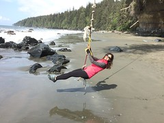 Mystic Beach (Keira Morgan) Tags: ocean beach waterfall britishcolumbia hike adventure explore vancouverisland trail cave mysticbeach juandefucaprovincialpark