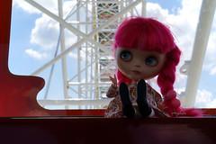 221/366 Ferris Wheel! (omgdolls) Tags: pink blythe blythedoll blythe365 pureneemobody dollypunk21 adelaideskye