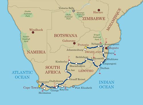 Shongololo Express Good Hope Map
