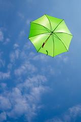 Up And Away! (Walter Quirtmair) Tags: blue sky green umbrella sunshade parasol 500px ifttt quirtmair