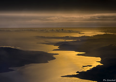 Golfe de Corinthe (Philippe Goachet) Tags: greece corinthe golfe bridge rion antirion ploponse grce sunset sunrise sea mer