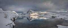Light & Shade (Jerry Fryer) Tags: cloud snow seascape ice norway reflections landscape coast lofoten 6d snowcoveredmountains kilan leefilters leepolariser ef1635mmf4l