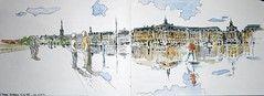 USK France - Bordeaux (m.JaKar) Tags: france sketch drawing aquarelle bordeaux usk onthespot croquis carnetdevoyage insitu rencontrenationale urbansketchers dessinurbain