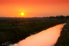 Love these May sunsets (judethedude73) Tags: sunset sky orange sun colour reflection water sussex skies colours dusk