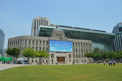 Seoul City Hall (Jamie Barras) Tags: building sunshine weather architecture spring day south may sunny korea seoul 2016