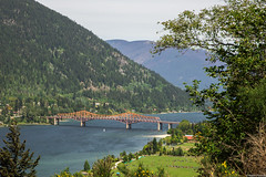 Little Humans @ West Arm Bridge, Nelson, B.C. (Robin Penrose) Tags: bridge mountains water big bc little picture nelson tiny favourite humans humbled insignificant bc201605