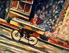 Cycling in New Orleans - Try to go beyond the one-click (The Big Jiggety) Tags: music usa art strange bicycle painting la michael weird kent keyboard louisiana arte kunst neworleans surreal jazz peinture canvas musica oil bicyclette vlo pintura musique huile clavier oleo klavier biciclettta bucicleta