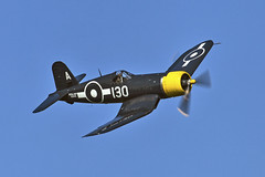 Vought Corsair (Goodyear) - KD345 (Gary Beale) Tags: old fly navy corsair warden shuttleworth goodyear 2016 vought kd345