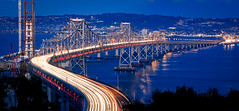 The Original Eastern Span of the San Francisco-Oakland Bay Bridge. (Craig Hudson Photography) Tags: longexposure usa color horizontal cityscape traffic unitedstates panoramic oaklandbaybridge easternspan
