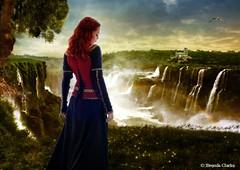 In the land of fairytales... (~Brenda-Starr~) Tags: tree bird castle nature rainbow fantasy waterfalls allrightsreserved brendastarr brendaclarke june2016