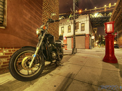 A Motorbike at Pearl Street [Week 19, 2016] (Brian D' Rozario) Tags: street city nyc red urban streets bike metal brooklyn night honda nikon metallic transport transportation motorcycle vehicle exploration hdr afterdark urbex highdynamicrnage d7k d7000 tokina1116mmf28 giveusyourbestshot briandrozario brian19869 522016week19