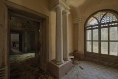 Senescent (Kriegaffe 9) Tags: light glass doors doorway archway pillars