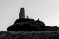 Tr Mawr (Sandy Sharples) Tags: blackandwhite lighthouse history monochrome silhouette wales landscape island britain national trust llanddwyn anglesey
