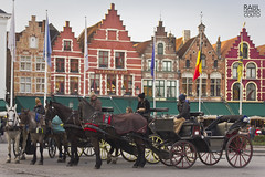 Grote Markt, Bruges. (Ral Herreroc) Tags: travel horses canon outdoors europa europe belgium bruges markt brujas grote blgica airelibre 550d