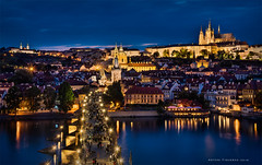 Beautiful Prague (Antoni Figueras) Tags: longexposure prague cathedral praha praga bluehour charlesbridge stnicholaschurch blending karluvmost stvitus moldava bridgetower strahovmonastery katedralasvvita cz1680 sonya77ii