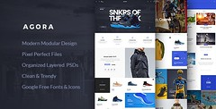 Agora  eCommerce PSD Template (Shopping) (hypesol) Tags: shop store creative clean modular ecommerce multipurpose diffuseshadow responsive