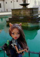 Clawdeen on a trip (mailiadolls) Tags: werewolf toy doll outdoor musicfestival clawdeen monsterhigh clawdeenwolf