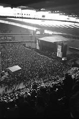 The Stone Roses (iampaulrus) Tags: etihad etihadstadium manchester thestoneroses 35mmfilm singleusecamera illford xp2 blackandwhite silhouette blackwhite mono stadium gig music concert crowd shootingintothesun stage film 35mm paulfargherphotography paulfargher publicenemy 18june2016 photoexpresshull