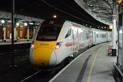 "The Train Now Departing Platform 5 Is The Future . . . (37190 ""Dalzell"") Tags: york set hitachi iep multipleunit bimode testtrain 800002 at300 superexpresstrain class800 basewhite promotionalbranding intercityexpressproject"