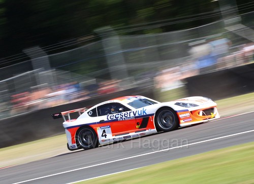 Grahame Tilley in the Ginetta GT4 Supercup during the BTCC at Oulton Park, June 2016