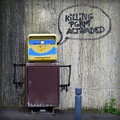 killing programme activated (YOUGUIE) Tags: streetart paris graffiti message tag graff bal laposte boiteauxlettres killingprogrammeactivated