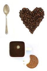 I Love Coffee Breaks 2 (Simon Taylor Local Photographic) Tags: white love coffee cookie heart spoon bean biscuit whitebackground mug crumbs teaspoon loveheart