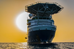 Forza Sunshine (SPMac) Tags: africa sea rescue sun sunshine out golden support ship crane offshore ships fast craft vessel gas ghana forza ten oil service burst rem hung ssv frc feild supply maersk subsea davit helideck