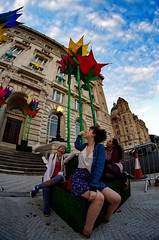 Flowers 1 (MCParradox) Tags: liverpool 3graces threegraces liverpool3graces liverpoolthreegraces waterfront liverpoolwaterfront giantflowers flowersculptures artinstallation fisheye