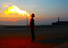 Fire (Graham  Sodhachin) Tags: sunset fire fireeater