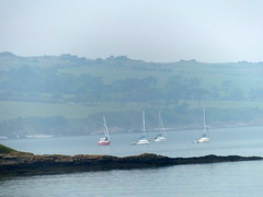 4 Ships a sailing. (FloraandFauna_2) Tags: sea sky beach grass sand ships headland anglesey lligwy