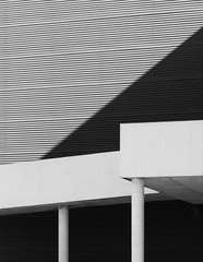 Arquitectos San Lorenzo 8 - Polideportivo Tomelloso #17 (Ximo Michavila) Tags: arquitectossanlorenzo8 polideportivo tomelloso ximomichavila ciudadreal castillalamancha geometric lines abstract arquitectura spain architecture archdaily archidose archiref shadow sports centre diagonal pillar bw grey monochromatic blackandwhite