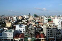 cityscape of Phnom Penh (asitrac) Tags: city travel urban scenery asia cambodia southeastasia cityscape scene aerial phnompenh kh indochina phnompenhdistrict asitrac