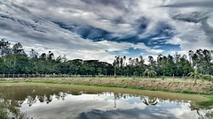 -         -     ; (Curious ClickZ) Tags: blue sky white green water beautiful clouds landscape bangladesh reflaction reflactions snapseed samsunggalaxynote4