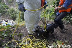 Pumps for Oil Spill Clean Up (Greenpeace USA 2016) Tags: oil spill pipeline fossilfuel ventura california pollution cleanup crude ca usa