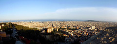 Barcelona (Lidia Cozar) Tags: barcelona panoramic panoramica city ciudad sagradafamilia torreagbar sky cielo sea mar
