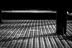 shade grate (fhenkemeyer) Tags: canoneos70d abstract grate shade bw