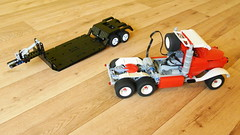 Truck with Trailer (MOC) (hajdekr) Tags: old truck vintage lego transport retro lorry camion technic motor trailer remotecontrol heavy rc moc legotechnic myowncreation lmotor sbrick smartrcreceiver